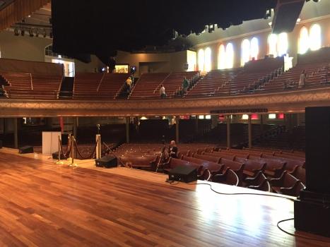 Ryman stage.